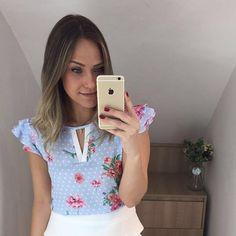 0a854666d09 Blusa linda nos tamanho P M G www.jjmodas.com.br Preppy Outfits