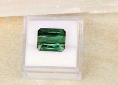 Green Blue Tourmaline Over 7 Carats Loose Gemstone 11.8 x 10