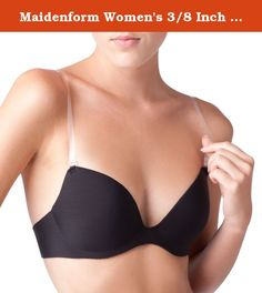 Maidenform Women's 3/8 Inch Wide Bra Straps. Wear strapless fashions without giving up on support. That's the beauty of going with clear bra straps. Simply attach to your bra for an incognito, comfortable look. Use with any bra with detachable straps. For a halter fit, hook and adjust a single strap around your neck. It's clearly a good idea.