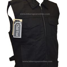 Black Biker Denim Vest Collar