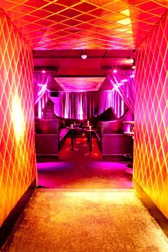 Private Room in club Club Lighting, Fence Lighting, Lighting Design, Art Madrid, Madrid Barcelona, Barcelona Spain, Night Club, Night Life, Vegas Lights