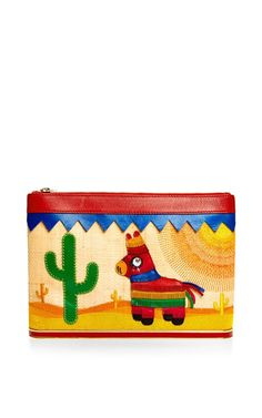 Embroidered Mexicana Ari Clutch by Charlotte Olympia - Moda Operandi