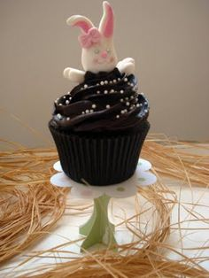 Cupcake de chocolate intenso
