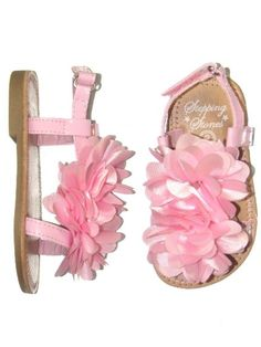 Infant girl patent thong sandals with satin puff flower by stepping amazon patent and large flower infant girl baby sandals with velcro closure by mightylinksfo Gallery