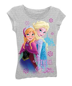 Take a look at the Heather Gray Frozen 'Anna & Elsa' Tee - Girls on #zulily today!