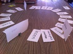 Spel met globaalwoorden.