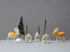 small+house.+tiny+white+ceramic+house+with+rustic+by+flowingforms,+£7.00