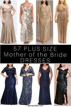 57 Plus Size Mother of the Bride Dresses - Alexa Webb - Webb has outdone herself this time. These gorgeous gowns are great for ANY dressy occasion, not just weddings! Mother Of The Bride Fashion, Mother Of The Bride Plus Size, Plus Size Gowns Formal, Plus Size Party Dresses, Mob Dresses, Types Of Dresses, Traditional Wedding Attire, Mother Of Groom Dresses, Mother Of The Bride Gowns