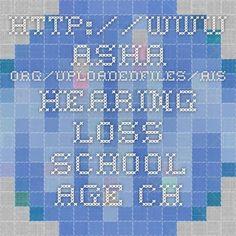 http://www.asha.org/uploadedFiles/AIS-Hearing-Loss-School-Age-Children.pdf