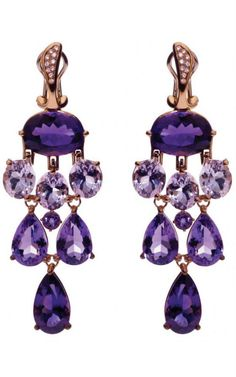 Amethyst and Diamond Earrings by Gavello - inspiration from blossomgraphicdesign.com #boutiquedesign