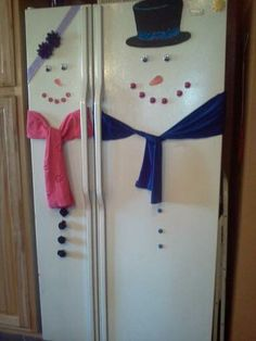 My version of the snowman refrigerator :-)