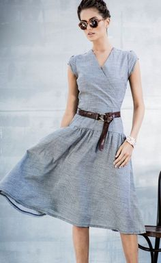love this #grey faux wrap dress http://rstyle.me/n/pbjtzr9te