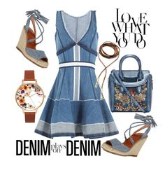 """""""Denim Plays on Denim"""" by streetglamour ❤ liked on Polyvore featuring Dsquared2, Alexander McQueen, Child Of Wild, AlexanderMcQueen and Denimondenim"""