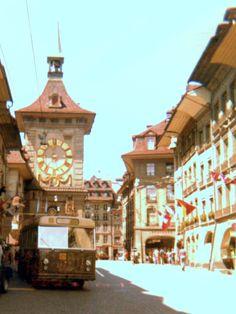 Alpine coach trip 1971 - excursion to Berne
