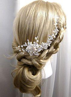 Freshwater pearl crystal vine wrap hair piece cluster of by Motrya, $69.00