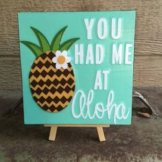 You Had Me At Aloha  Reclaimed wood accent by WellHungDesigns