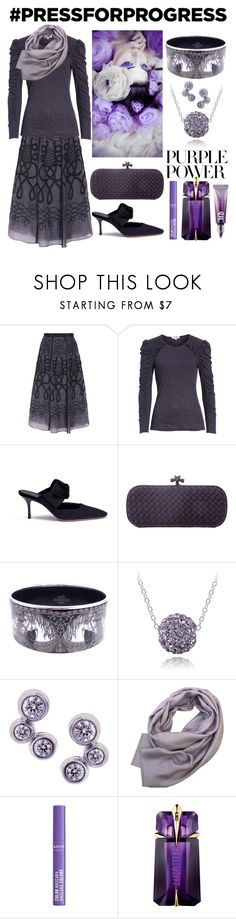 """Purple Power"" by theshyfairy ❤ liked on Polyvore featuring Temperley London, Rebecca Taylor, The Row, Bottega Veneta, Hermès, Lord & Taylor, Tiffany & Co., Gucci, NYX and Thierry Mugler"