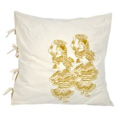Add exotic appeal to your decor with this cotton cushion cover, artfully block-printed by hand.   Product: Cushion cover...