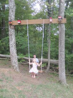 This is sort of the idea I had for the kids swing in our backyard.