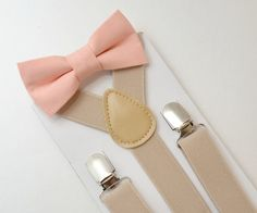 Suspenders SET 8 months- Adult Kids Mens Baby Boys Light Tan Khaki Suspenders & Tan bow tie Wedding Groom Page Boy Wedding Page Boys, Bowtie And Suspenders, Bow Tie Wedding, Wedding Bells, Make Color, Baby Size, Baby Boys, Kids Boys, Groomsmen