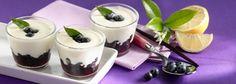 Bicchierini di mascarpone alla vaniglia e mirtilli