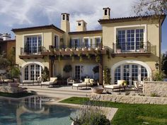 Mediterranean Pool and Patio