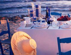 I pinned this from the Santorini Seaside Dining - Create a Greek Isles-Inspired Tablescape event at Joss and Main!