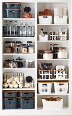 Kitchen Pantry Design, Kitchen Organization Pantry, Diy Kitchen Storage, Diy Kitchen Cabinets, New Kitchen, Kitchen Decor, Kitchen Ideas, Organization Ideas, Storage Ideas