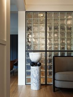55 Ideas For Wall Partition Design Glass Blocks Glass Blocks Wall, Glass Block Windows, Block Wall, Glass Walls, Brick Interior, Interior Walls, Home Interior Design, Interior Ideas, Wall Partition Design