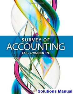 You will download digital wordpdf files for complete solution survey of accounting 7th edition warren solutions manual test bank solutions manual exam fandeluxe Gallery
