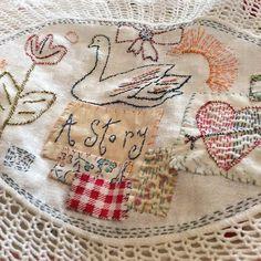 My stitching in progress here at #jessiechorleytheshop #embroideryartist #jessiechorley #shorditch #stitchingtime #stitchingsunday #columbiaroadflowermarket www.jessiechorleytheshop.com