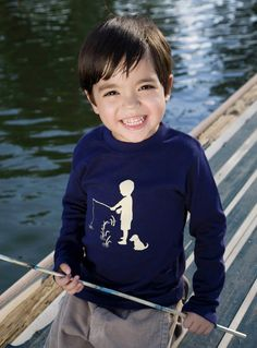 Fisherman Tee by Nostalgic Graphic Tees, designed and printed in the US- great Christmas gift!