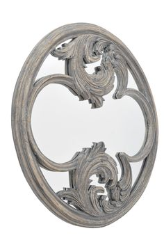 Roxborough Round Hand-Carved Wooden Mirror - Product Ref. 337655