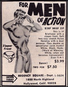 For men of action! Note the, um, mask. Yeah.