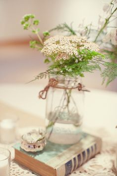 the simplicity and beauty of Queen Ann's Lace tucked in a Mason Jar.