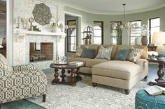 Light, bright and with a spring in your step. Julesburg seating pairs calming khaki with soothing shades of tranquil turquoise. And the highly textured rug? It's a tactile wonderland underfoot.