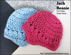 The Jack Beanie, by Mamma That Makes. A free preemie crochet pattern released for the 2016 itty bitty giant hat drive.
