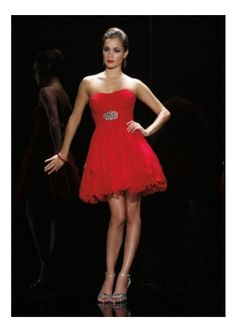 Red Organza Prom Dress/ Formal Dress /Party Dress by After Five 4153