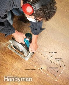 Laminate Floor Repair Fix damaged laminate flooring laminate floor get a ding? whether it's a small chip or a big divot, you can repair it with simple, diy techniques that make the floor look as good as new.