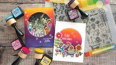 Intense Ink Blending – 2 Cards Out of 1 Background – kwernerdesign blog