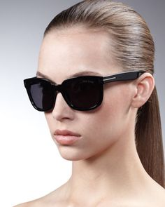 c949989e2ad Campbell Metal-Detail Sunglasses by Tom Ford at Neiman Marcus. Cat Eye  Sunglasses