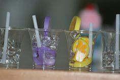 American Girl Doll Drinks! I love the idea of small clear beads for ice