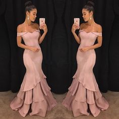 "1,086 Likes, 13 Comments - Suzhoudress (@suzhoudress) on Instagram: ""Pink Off Shoulder Prom Dress Item Code: SK0116 #promdress #prom2018 #offtheshoulder #punk"""