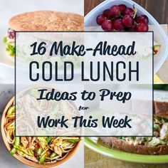 16 Make-Ahead Cold Lunch Ideas to Prep for Work This Week – Try prepping these awesome cold lunch ideas instead of reheating! 16 Make-Ahead Cold Lunch Ideas to Prep for Work This Week – Try prepping these awesome cold lunch ideas instead of reheating! Healthy Cold Lunches, Make Ahead Lunches, Prepped Lunches, Lunch Snacks, Diet Snacks, Healthy Snacks, Healthy Recipes, Cold Lunch Recipes, Easy Lunches For Work