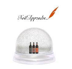 Boule de neige et Bouteille de vin ! Tout cela pour les fêtes :)