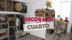 Decora una habitación pequeña usando huacales :D | #ViernesconKarla - YouTube