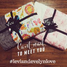    NEW ORDER    These two gorgeous reversible minky blankets are on their way to new families!  Thank you for all the support! We're sold out of some stock already, so get your order in quick so you don't miss out. xo #leviandevelynlove #leviandevelyn #candypride #mylittleballerina