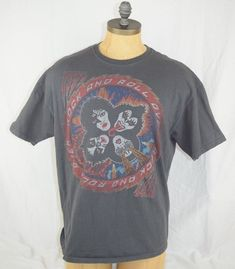 KISS OFFICIAL ROCK AND ROLL OVER T-SHIRT Vintage XL Mens