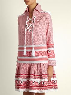 Click here to buy Dodo Bar Or Gadielle tassel-embellished cotton dress at MATCHESFASHION.COM