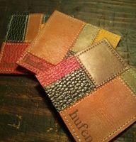 色とりどりな革のパッチワークがレトロなレザーコースター by hufen 家具